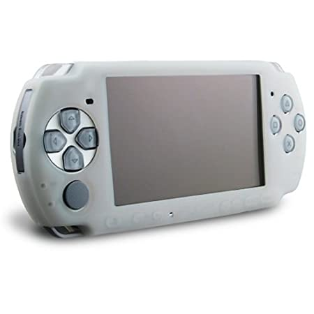 eForCity Clear white Silicone Skin Case for Sony PSP 3000, Clear White