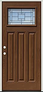 Fiberglass Front Door Craftsman 28 Patina Pre Finished