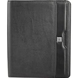 Cutter & Buck® Performance Series Zippered Leather Padfoli