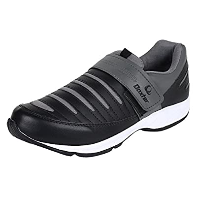 Earton Men's Black & Grey EVA Sports Shoes (Running Shoes)