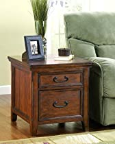 Hot Sale Wooden Rectangular End Table with File Cabinet