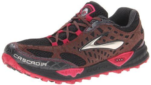 133a0ef93e4 The Features Brooks Women s Cascadia 7 Trail Running Shoe Black Shopping  Bag Cerise 7 5 B US -
