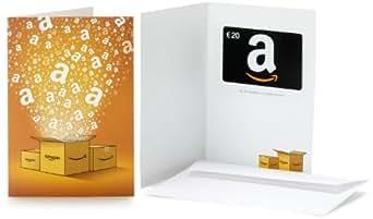 Carte cadeau Amazon.fr - 20 - Dans une carte de voeux Amazon