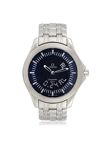Omega Men's Pre-Owned Seamaster Blue/Stainless Steel Watch