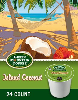 Green Mountain Coffee Island Coconut K-Cup Coffee (96 Count)