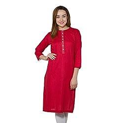 vasstram Solids Red Women's Tunic