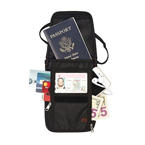 RFID Blocking Passport Holder & Neck Stash from Tarriss - Lifetime Warranty (Can Holder Neck compare prices)