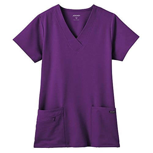Classic Fit Collection by Jockey® Scrubs Women's Tri Blend Solid Scrub Top Medium Eggplant