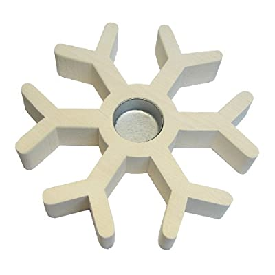 Candle Holder Snowflake-eggshell White by Nedholm Design