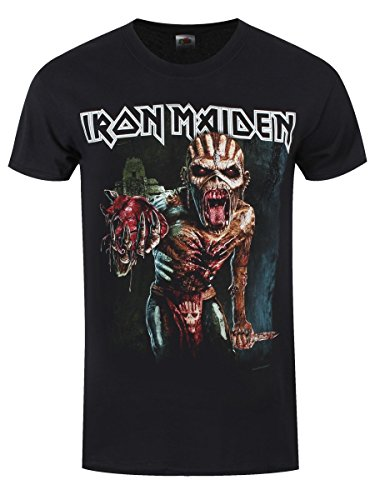 T-shirt Iron Maiden Book Of Souls Tour 2016 da uomo in nero
