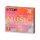 TDK CD-R 音楽用 74分 日本製 カラーミックス 手描き対応 5枚パック CD-RDE74CMX5N