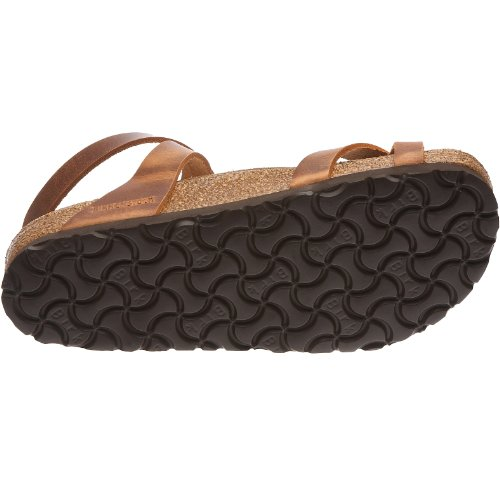 Birkenstock Yara Smooth Leather, Style-No. 13381, Women Thong Sandals, Antique Brown, EU 37, normal width