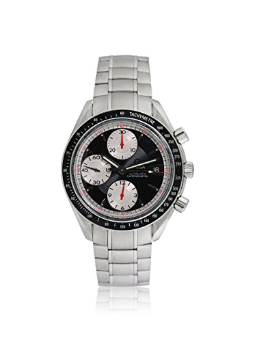 Omega Men's Pre-Owned Speedmaster Black & Silver/Stainless Steel Watch