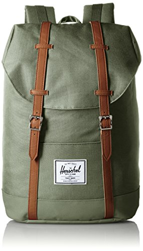 Herschel Supply Company SS16 Casual Daypack, Zaino, Multicolore (Deep Litchen Green/Tan), Taglia 19.5 Litri