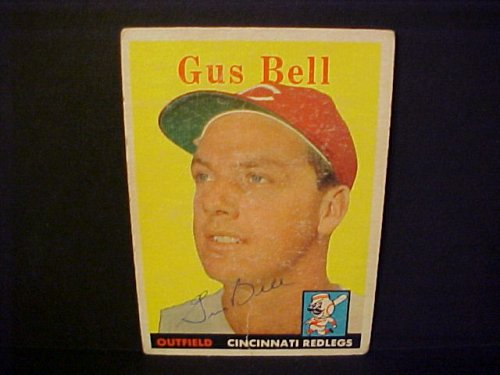 Gus Bell Cincinnati Redlegs #75 1958 Topps Signed Autographed Baseball Card