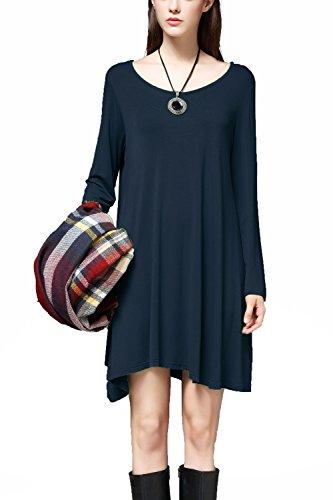 I2crazy Women's Long Sleeve Casual Loose Stylish Comfortable T-Shirt Dress