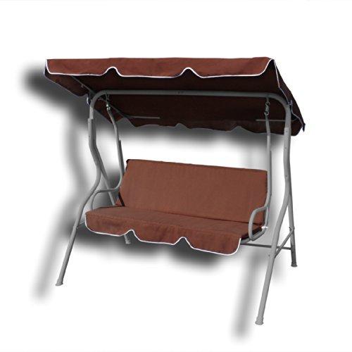 hollywoodschaukel gartenliege schaukel 3 sitzer braun ean 4250656913568. Black Bedroom Furniture Sets. Home Design Ideas