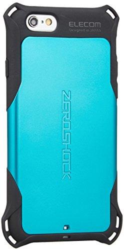 ELECOM iPhone6S iPhone6 ZEROSHOCKケース ブルー PM-A14ZEROBU