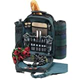 Picnic Gift 1035-GR Conquest Deluxe Two Person Picnic Pack With Blanket in Green