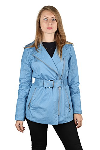 Michael Michael Kors Woman's Light Blue Rain Jacket (S) (Rain Jackets Michael Kors compare prices)