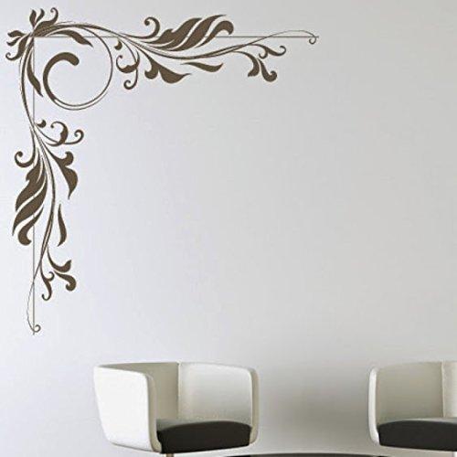 Destudio embellishment corner floral decorative home art for Room decor embellishment art