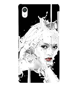 EPICCASE Milky face art Mobile Back Case Cover For Sony Xperia Z2 (Designer Case)