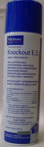 Virbac Knockout E.S. Area Treatment Carpet Spray, 16-Ounce (Flea Carpet Spray compare prices)