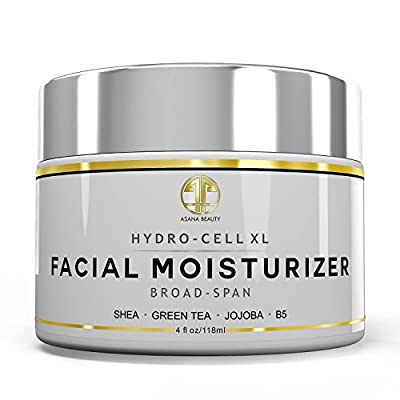 Natural Facial Moisturizer HUGE 4OZ - Best Face Cream for Dry Skin, Dark Spots - Anti Aging & Anti Wrinkle Skin Care Night & Day Cream with Shea Butter, Jojoba Oil & Vitamin B5 for Men & Women