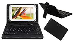 ACM PREMIUM USB KEYBOARD TABLET CASE HOLDER COVER FOR HUAWEI MEDIAPAD 7 YOUTH 2 With Free MICRO USB OTG - BLACK