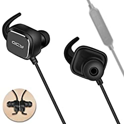 QCY QY12 Wireless Headphones Sports Wireless Bluetooth 4.1 Extra Bass Headsets With Magnetic Switch Noise Cancelling/Apt-X Waterproof