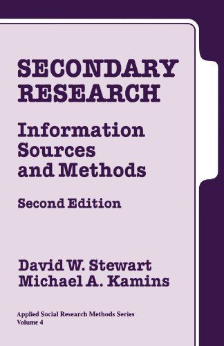 Secondary Research: Information Sources And Methods (Applied Social Research Methods)