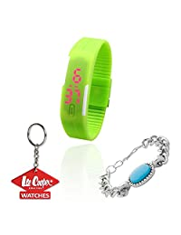 Mango People Digital LED Watch For Men & Women With FREE GIFT CELEBRITY BRACELET AND LEECOOPER KEY CHAIN