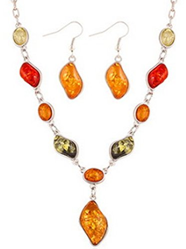 saysure-18k-gold-plated-amber-necklace-pendant-drop-earrings