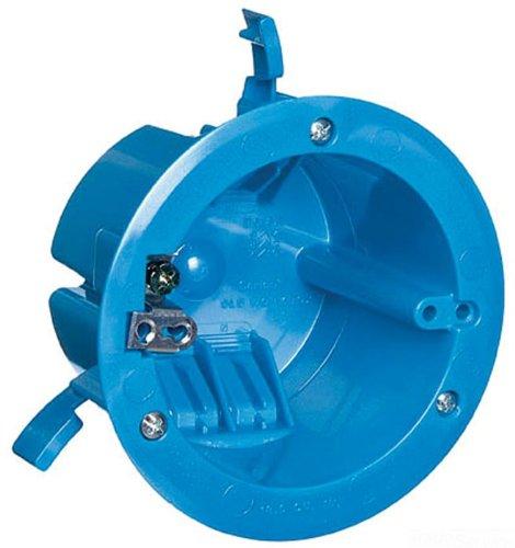 Carlon B618R-Upc Ceiling Fan Box, New Work, 4-1/4-Inch Diameter By 2-5/8-Inch Depth, Blue