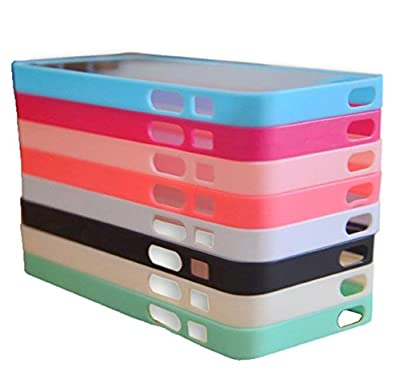 Wholesale 8pcs/lot 8 Colors Soft Trim High Clear Back Hard Cover Bumper Case Skin for iPhone 5 5G 5S 5GS from hotmiki