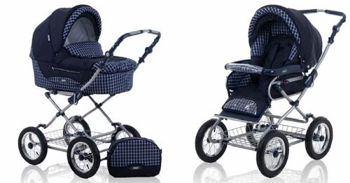 Find Cheap Roan Kortina Classic Pram Stroller 2-in-1 with Bassinet and Seat - 5 (Five) Colors - Navy...