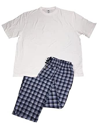 Stafford mens short sleeve tee and pant pajamas at for Stafford white short sleeve dress shirts