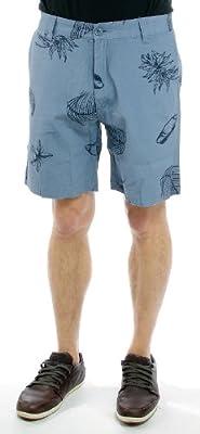 Wemoto Shorts MICK SHORT blue stone print