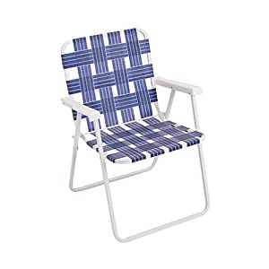 Rio Brands BY055-0138 Web Fold Chair, Blue (Discontinued by Manufacturer)