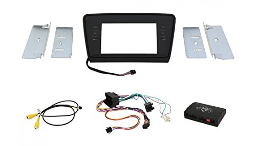 maxxcount-2DIN-EinbauKit-Infotainment-2DIN-Blende-schwarzglnzend-CAN-Bus-Lenkradfernbedienung-Video-Adapter-fr-Skoda-Octavia-III-5E