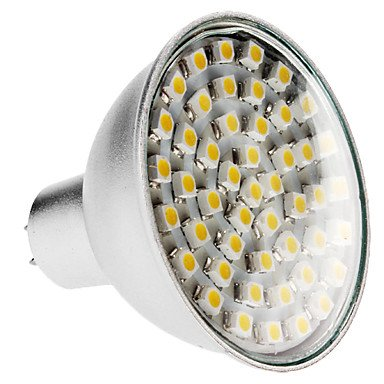 Mr16 3W 48X3528Smd 240-270Lm 3000-3500K Warm White Light Led Spot Bulb (220V)