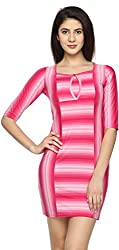 Texco Garments Women's A-Line Dress (8, Pink, L)