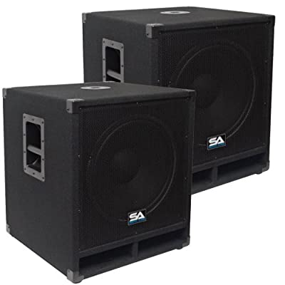 "Seismic Audio - Baby-Tremor-PKG1 - Pair of 15"" Pro Audio Subwoofer Cabinets - 300 Watts RMS - PA/DJ Stage, Studio, Live Sound Subwoofers from Seismic Audio"