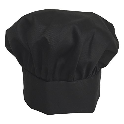 Obvious Chef - Black Chef Hat - Adjustable Velcro Fit - Adult (Black) (Chefs Products compare prices)