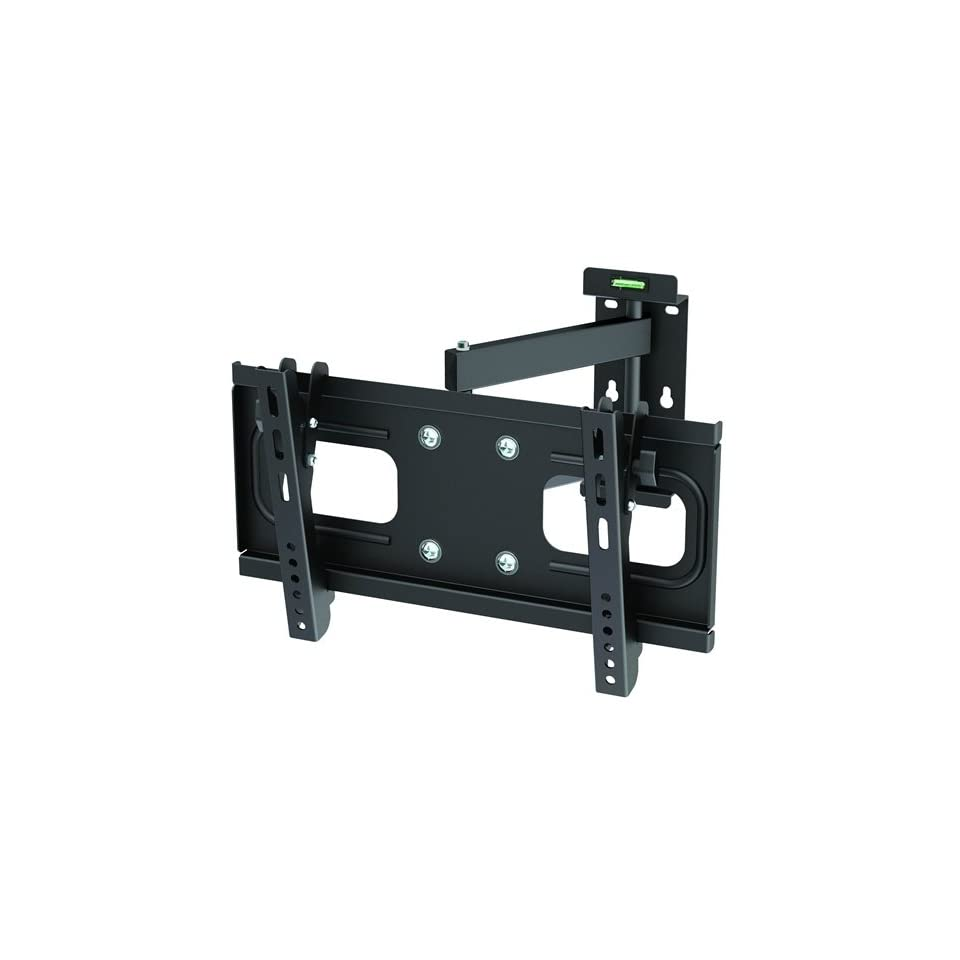 InstallerParts Flat TV Mount 32~42 Tilt/Swivel, PA 924, Black    For LCD LED Plasma TV Flat Panel Displays    Fully Articulating Arm Mount Wall Bracket    Great for Toshiba, Samsung, LG, Vizio, Sony, Dynex, Insignia and More