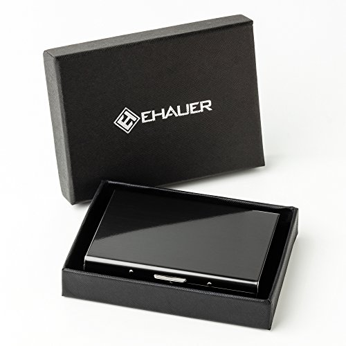 Ehauer - Ultra Modern RFID Stainless Steel Credit Card Holder for Men and Women in Gift Box