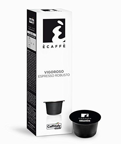 Caffitaly Ecaffe VIGOROSO coffee capsules 10 x 8g suitable for Caffitaly, Dualit-Caffitaly and Tchibo Cafissimo