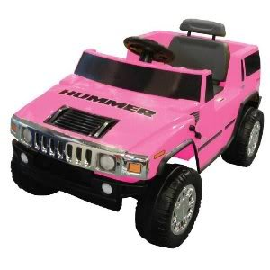 Toy / Game National Products 6V Pink Hummer H2 Battery Operated Ride-On W/ Chrome Front Grill And Hubcaps