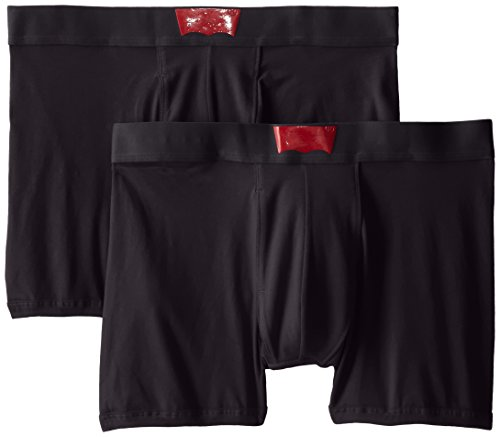 Levi's Men's 200 Series 2-Pack Cotton Boxer Brief, Black, Medium