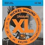 【国内正規品】 D'Addario ダダリオ エレキギター弦 XL ニッケルラウンドワウンド レギュラーライトゲージ(10-46) EXL-110